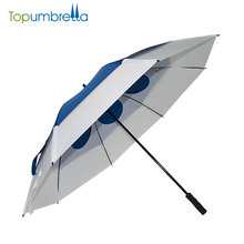 Wholesale Windproof Sun Protection Weatherman Double Layer Big Golf Umbrellas With Logo Prints