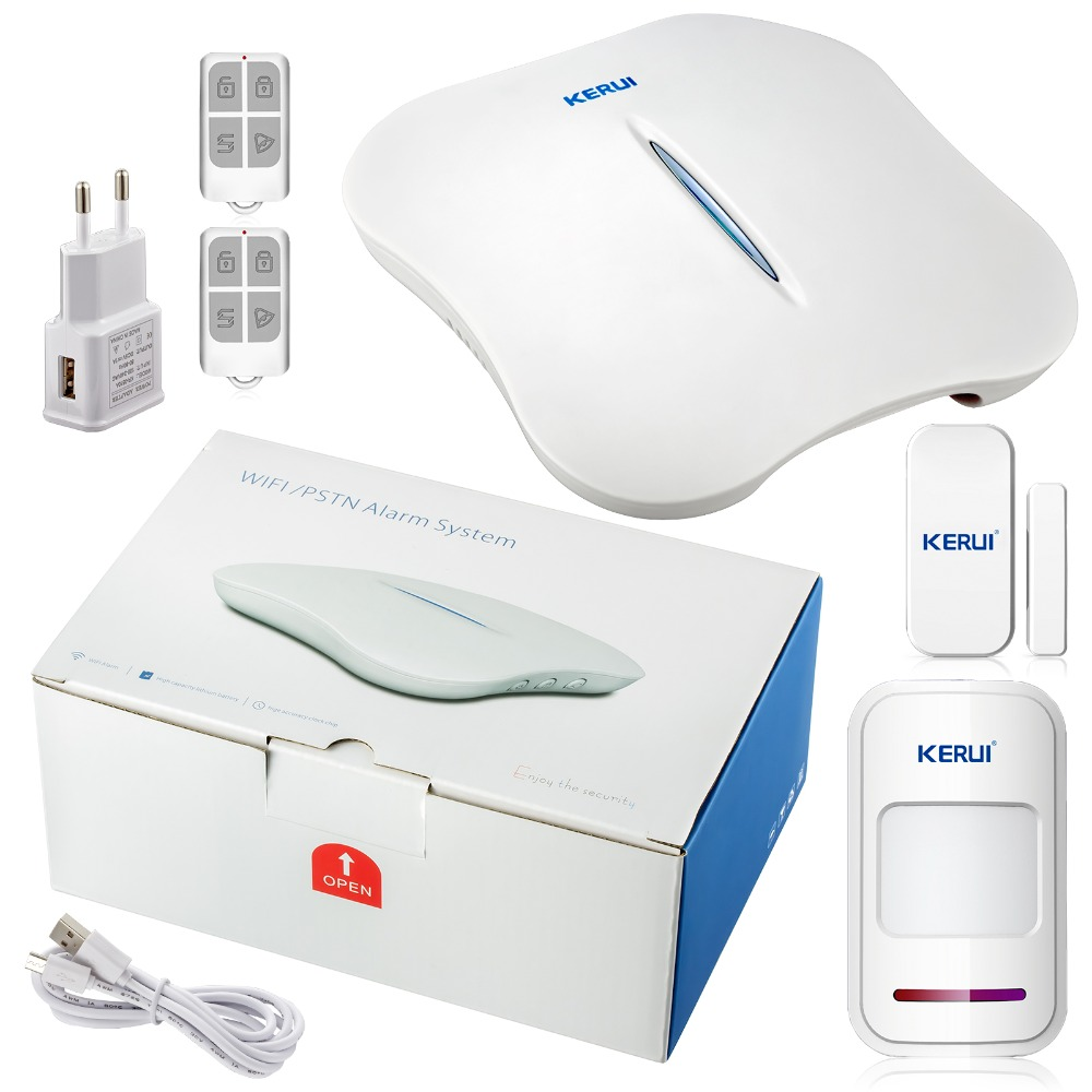 kerui Wireless WiFi PSTN Home wifi Alarm System Security WIFI 433MHz Alarm