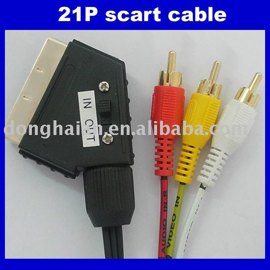 Switchable scart to 3rca cable