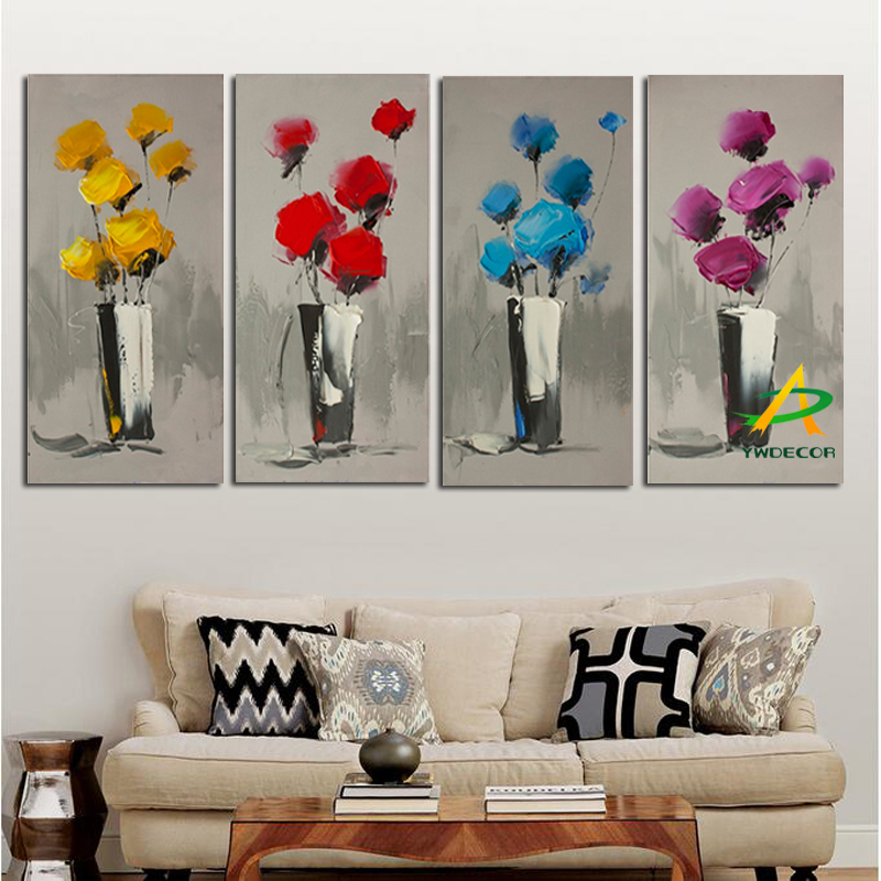Modern Flower Oil Paintings <strong>Art</strong> For Living Room
