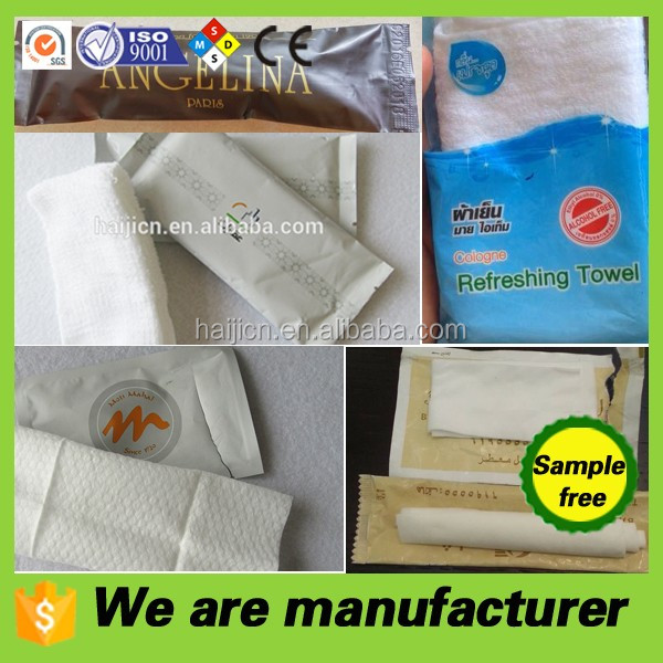 manufacturer direct sale of 100% cotton wet towel or nonwoven wet towel