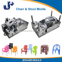 Plastic chair mould for injection moulding making Stainless Steel Legs Chair furnitures