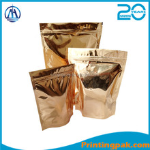 Alibaba China's Hot Sale Products Stand Up Aluminium Pouch Silver Aluminium Foil Zip Lock Bag