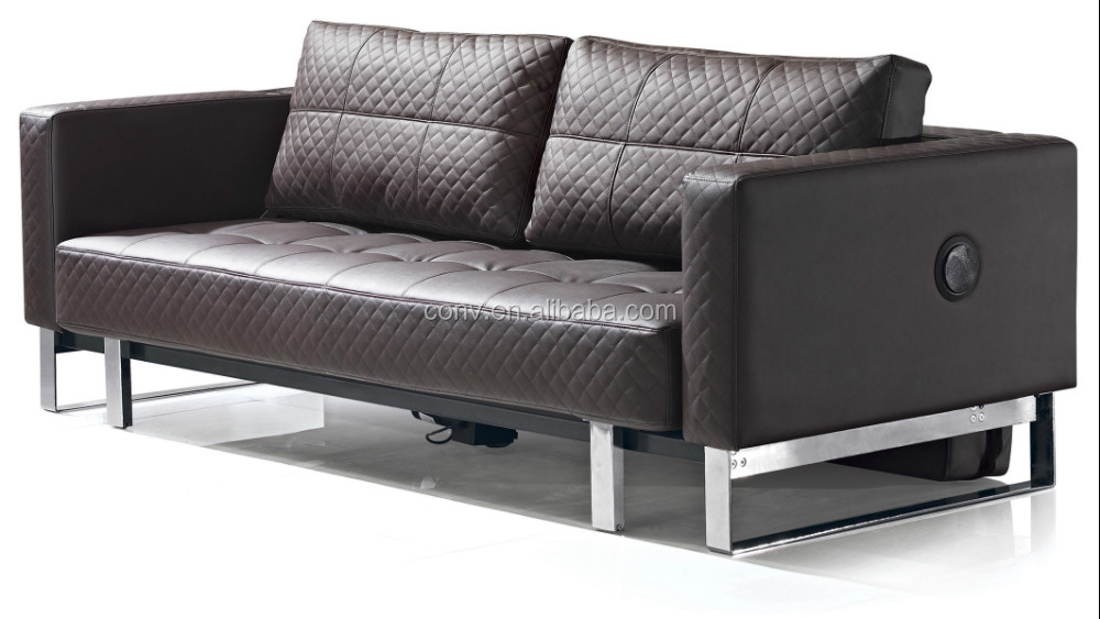 automatic remote control sofa bed with pu leather buy With automatic sofa bed