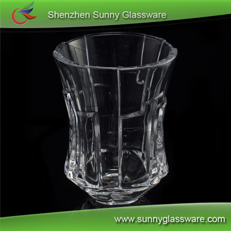 new products crystal cut glass candle holder