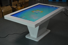 floor standing IR digital signage table display multi touch