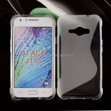 2015 New design s Line TPU soft cover skin Gel case back cover for samsung galaxy j1 ace china price