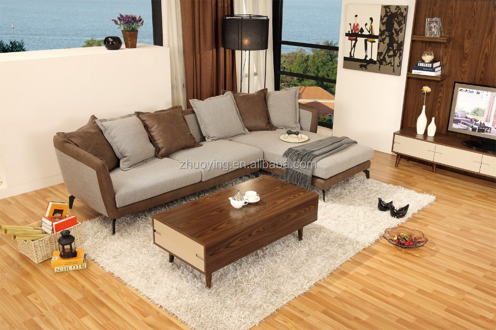Contemporary living room furniture center table design for Living room no coffee table