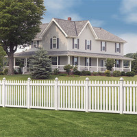 White Temporary Composite Pvc Fence Panels
