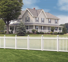 white temporary composite pvc fence panels hot sale flower bed no dig fence