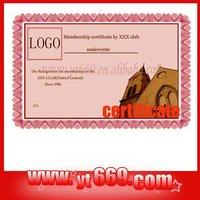 Dangerous Goods certificate
