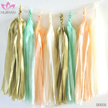 5pcs One Bag Wedding Birthday Party Decoration Paper Tassel Garland