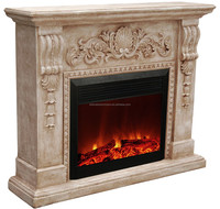 Classic Led Luxury Imitation Electric Fireplace with Classic Curve Mantel