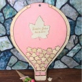 Personalized Wedding Guest Book Rustic Balloon Shape Baby Shower Guestbook Wedding Decor