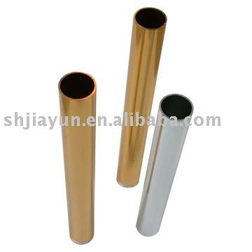 champagne color bright anodized aluminum tube/aluminum alloy pipe