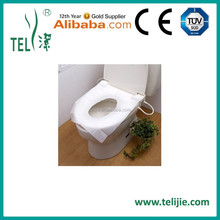Disposable paper toliet seat cover for travel pacl.houtel use
