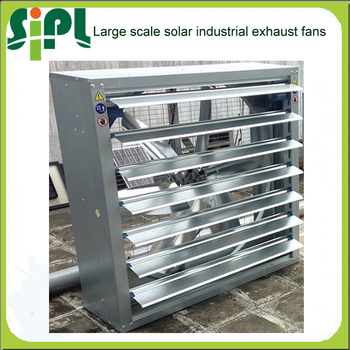 Vent goods 300w solar powered ventilationfan with dc motor for Industrial exhaust fan motor