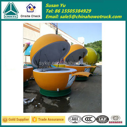 Fiber Glass Fruit Juice Cart/Mobile Fruit Shape Food Cart for Sale