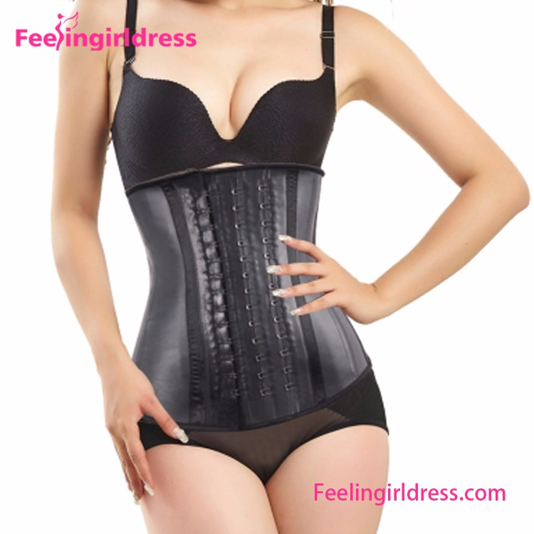 4 Steel Bones 100% Latex Waist Trainer Women