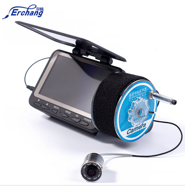 Erchang Fishing Camera Monitor Underwater Video DVR Recorder 15M/30M/50M Cable 4.3'' HD Color Digital LCD Fish Finder