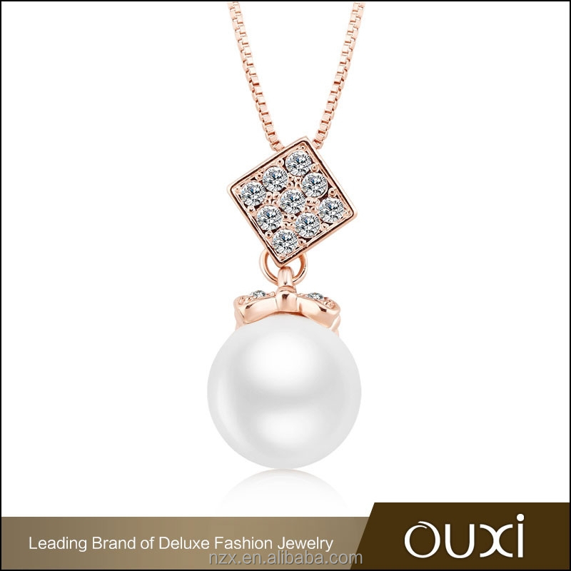 OUXI latest design gold long chain pearl necklace 11311-2