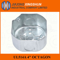 Hot selling UL Standard octagonal stainless steel outdoor metal electric outlet box