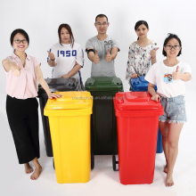 120LT color customized mobile outdoor plastic garbage container