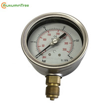 1.6% Good Quality Adjustable Stainless Bayonate Bezel Pressure Gauge