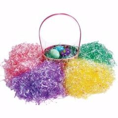 Shredded plastic for Easter egg packing and decoration /shred paper