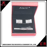 New design cheap cufflink sets tie clips wholesale