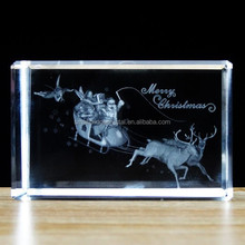Promotional 3d Crystal Laser Engraving Gifts For Christmas Gift