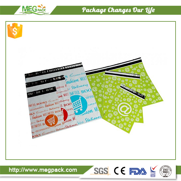 Plastic colorful PE mailing bags wholesale for clothing with peel strip