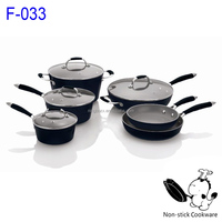 forgrd aluminum chefline ceramic coating stainless steel handle cookware set