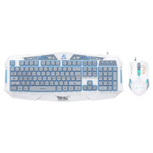 LED Backlit Wired Gaming Keyboard and Mouse Combo Set