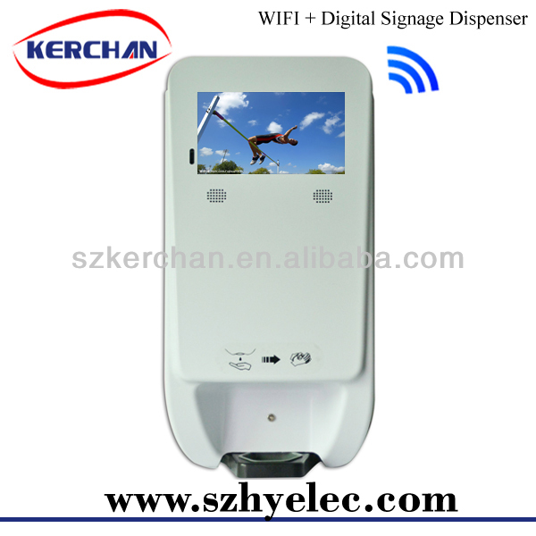 Product distribution opportunities,touchless foam hand sanitizer dispenser with digital screen