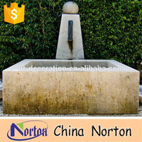 antique finish granite stone outdoor water wall fountain in ground water fountain NTMF-A063R