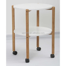 portable bamboo coffee table, moveable living room furniture wholesale