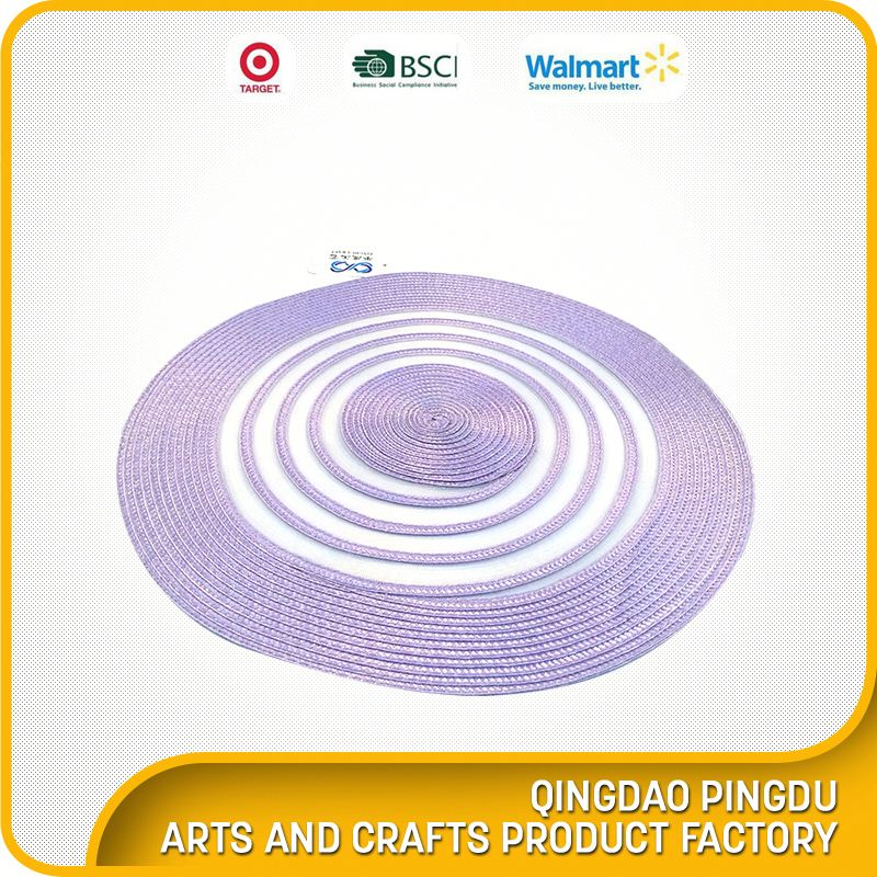 Wholesale Factory Price Nautical Round Pp Braid Placemat