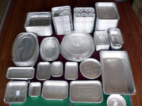 disposable food packaging aluminum foil container/tray/box