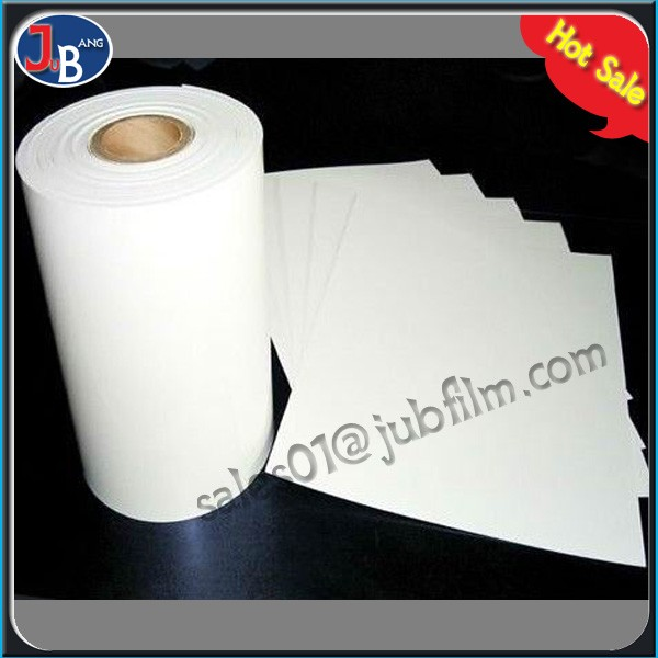 90% non-light transmittance high glossy film white glossy outdoor ads film