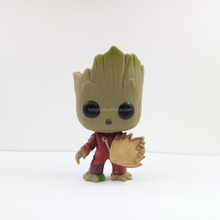 Gzltf Wholesale Funko Pop Guardians of the Galaxy Groot 208# 10cm Vol. 2 Baby Groot With Shield Exclusive Figure