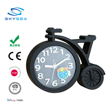 Promotion Gift Bicycle Shaped Plastic Table Alarm Clock
