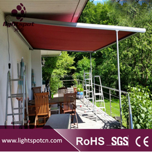 Outdoor motorized sky awning