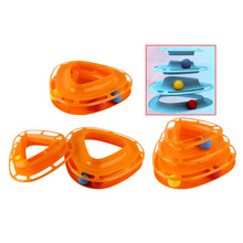 Pet Products 3 Layers Funny Cat Toy Plastic Dougez Turntable Detachable Pet Cat Kitten Interactive Turntable Toy