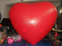 2015 new design red inflatable heart balloon, could fly for event