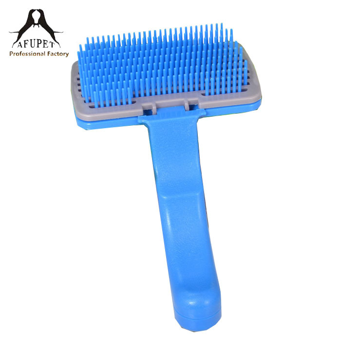 self clean pet/dog/cat grooming comb for wholesale