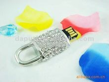 2015 hot saling usb flash drives creative lock shaped