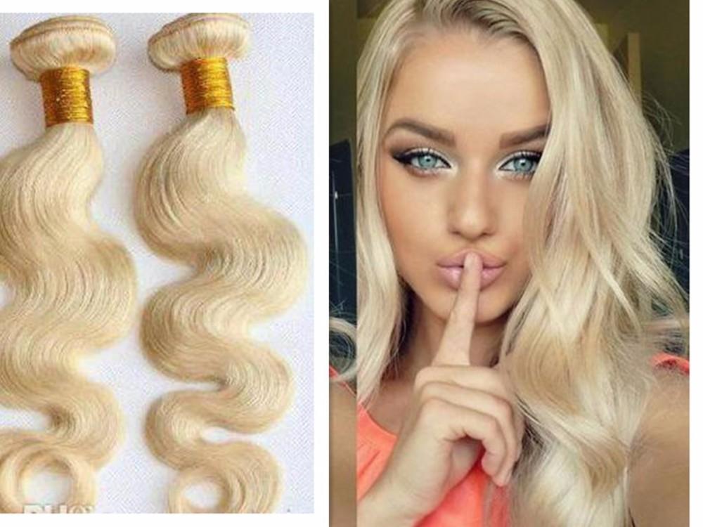 8a Grade Pure Virgin Blonde Color 613 Body Wave Unprocessed Indian