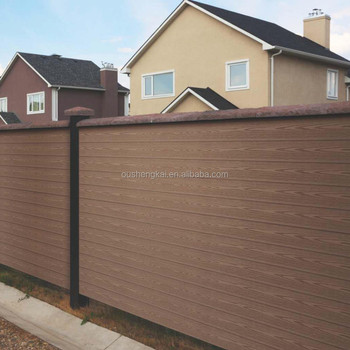 Samples free WPC decking board fencing with wood plastic composite post WPC fence