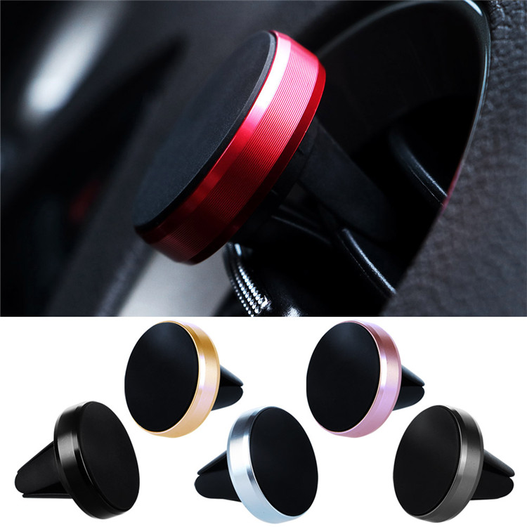 Universal 360 Car Holder Metal Mini Size Magnetic Mobile Phone Magnet Air Vent Car Mount for Smartphones